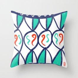 Wallpaper Sicily 03 Throw Pillow