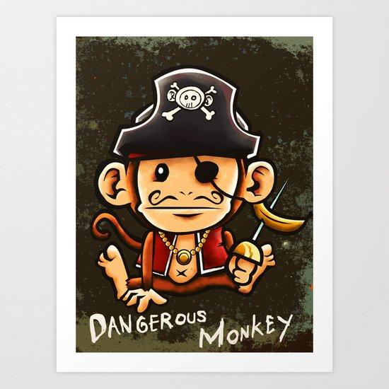 Dangerous Monkey! Art Print