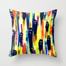 paint-pattern 1 (the chaps) Throw Pillow