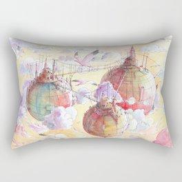 Three worlds Rectangular Pillow