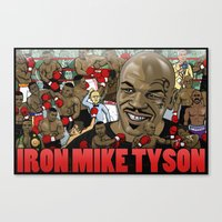 mike tyson Canvas Prints featuring Mike Tyson by Adam Doyle