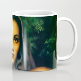 Jesus Helguera Painting of a Calendar Girl with Dark Shawl Coffee Mug