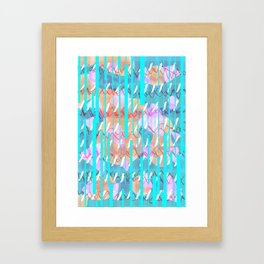 You win or you die (blue) Framed Art Print