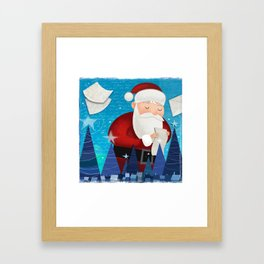 Letters to Santa Framed Art Print