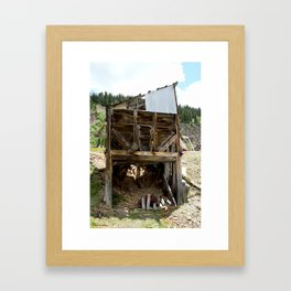 Exploring the Longfellow Mine of the Gold Rush - A Series, No. 9 of 9 Framed Art Print