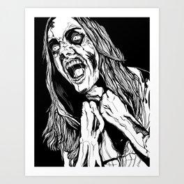 Zombie Rage Art Print