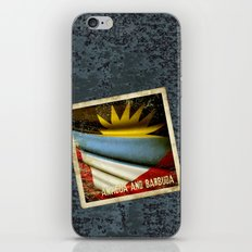 Grunge sticker of Antigua and Barbuda flag iPhone & iPod Skin