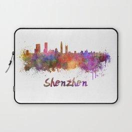 Shenzhen skyline in watercolor Laptop Sleeve