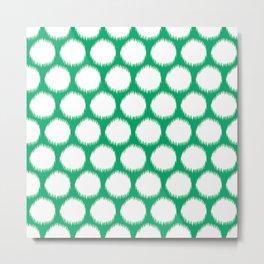 Jade Asian Moods Ikat Dots Metal Print