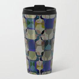 Mid Century Geometry Electric Blue Travel Mug