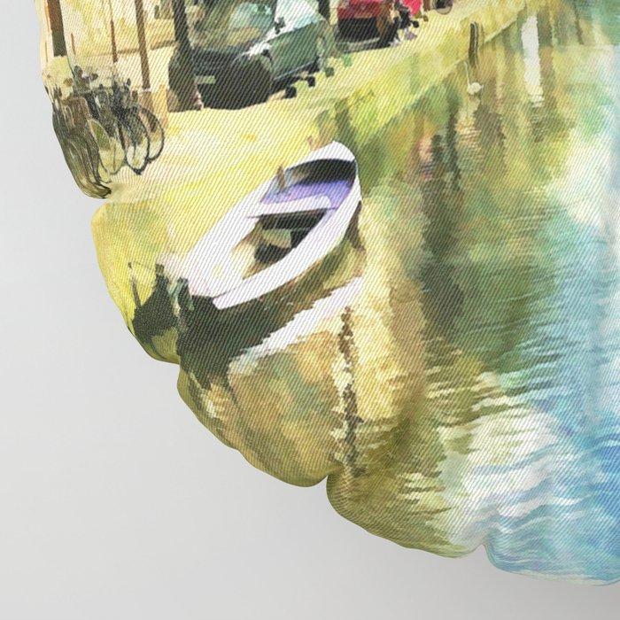 Amsterdam Waterways Floor Pillow