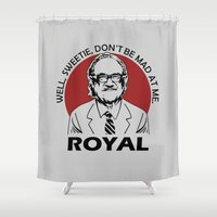 royal tenenbaums Shower Curtains featuring Royal Tenenbaum quotes by Buby87