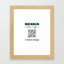 3 Halves Design Framed Art Print