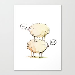 Dolly the Sheep (and Clone) Canvas Print