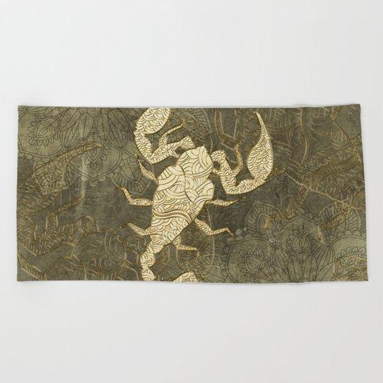Beautiful scorpion mandala Beach Towel