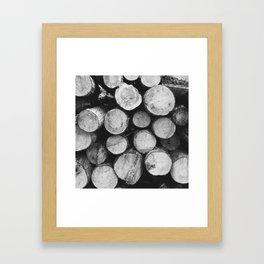 wood pile Framed Art Print