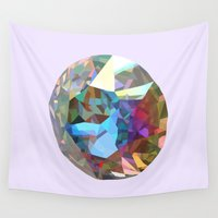 crystal Wall Tapestries featuring Crystal by iamBrookeHolland