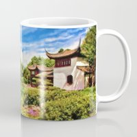 chinese Mugs featuring Chinese Gardens by Photos By Healy