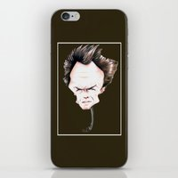 clint eastwood iPhone & iPod Skins featuring Clint Eastwood by Diego Abelenda