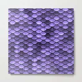 Mermaid Scales Periwinkle Ultra Violet Metal Print