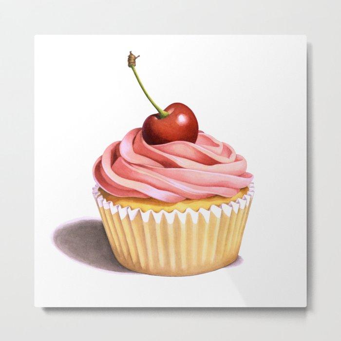 The Perfect Pink Cupcake Metal Print