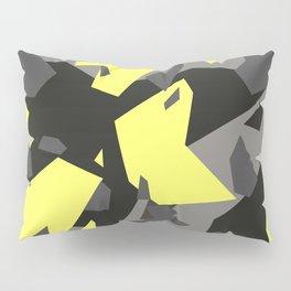 Black\Grey\Yellow Geometric Camo Pillow Sham