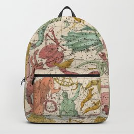 Libra Antique Astrology Zodiac Pictorial Map Backpack