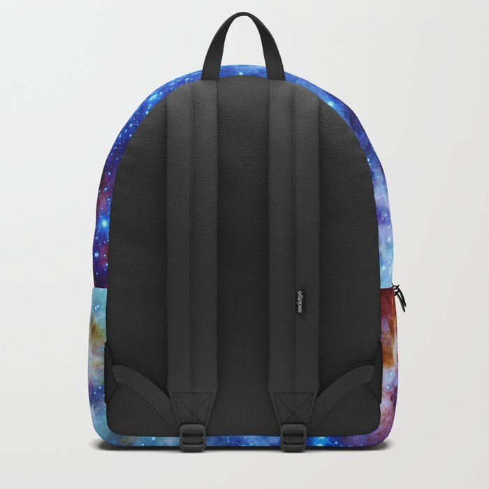 galaxy blue sparkle Backpack