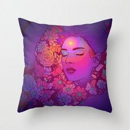 Floral Bath 2 | 2018 Throw Pillow
