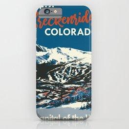 Breckenridge Vintage Ski Poster iPhone Case