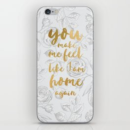 LIVELONG WHITE & GOLD iPhone Skin