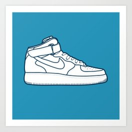 #13 Nike Airforce 1 Art Print