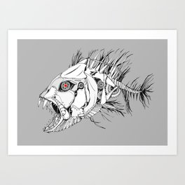 Mechanical Fish Art Print
