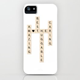 MOTHER's Day Scrabble Art Gift iPhone Case