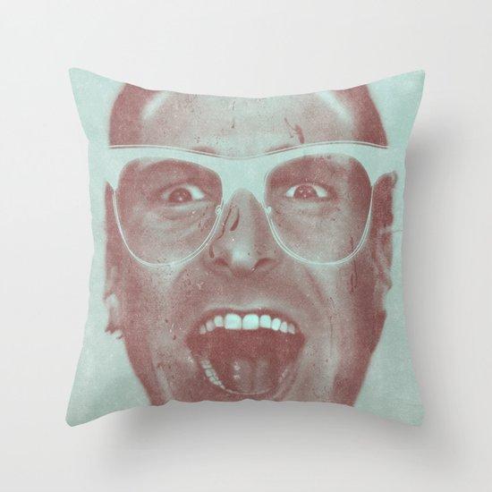 Patrick Bateman - The Hipster (Feat. Marta Macedo) Throw Pillow