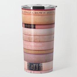 Vintage Pink Stacks Travel Mug