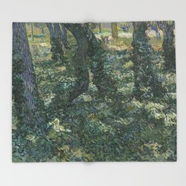 Undergrowth Throw Blanket