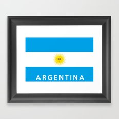 argentina country flag name text Framed Art Print