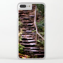 Old Wet Stone Steps Clear iPhone Case