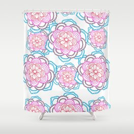 Sunset mandalas Shower Curtain