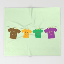 Hanging Tee Family Throw Blanket