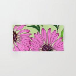 Echinacea on Pistachio Hand & Bath Towel