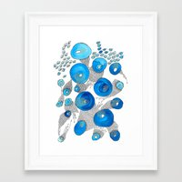 lace Framed Art Prints featuring Lace by Gosia&Helena