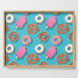 Poolparty doughnuts, pretzel,lollies Serving Tray