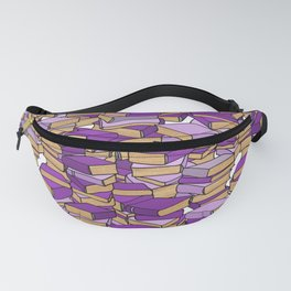 Book Collection in Purple Fanny Pack