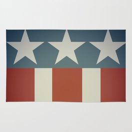 Three Starred Spangle Banner Rug