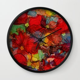 Passion of Flowers Wall Clock