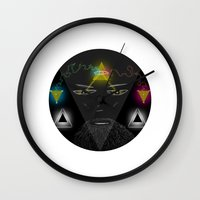 wizard Wall Clocks featuring Wizard by Spooky Dooky