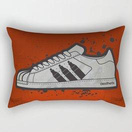 Aesthetix 3 Pens Superstar (Safety Orange) Rectangular Pillow