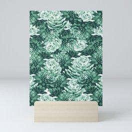Succulents Pattern #1 #GreenVibes #decor #art #society6 Mini Art Print